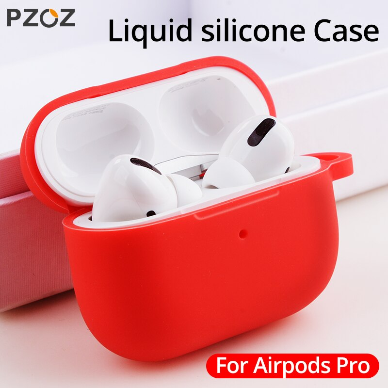PZOZ auriculares Bluetooth suave funda de silicona para Apple airpod s pro funda de silicona Anti-caída funda protectora bolsa Anti-pérdida