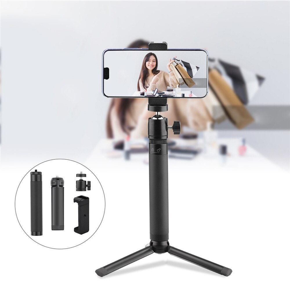 Mobile Phone Mini Desktop Tripod Handheld Portable Selfie Stick Extension Pole Bracket Photography Selfie Artifact Bracket Set