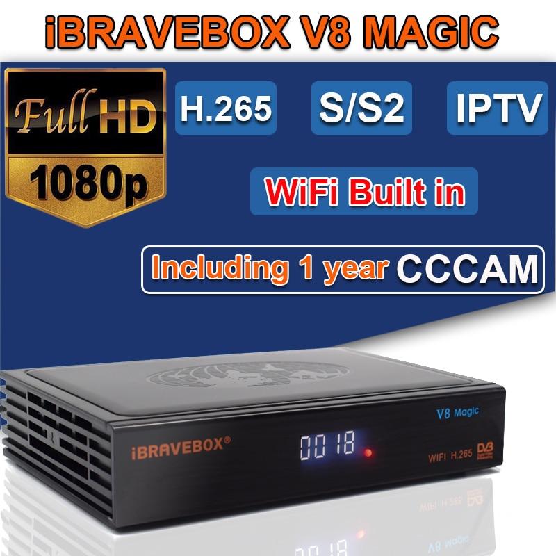 Rezeptor iBRAVEBOX V8 Magie gebaut-in WIFI DVB-S2 Europa Cline für 1 Jahre TV Box Gleiche wie V9 Super v8 Nova