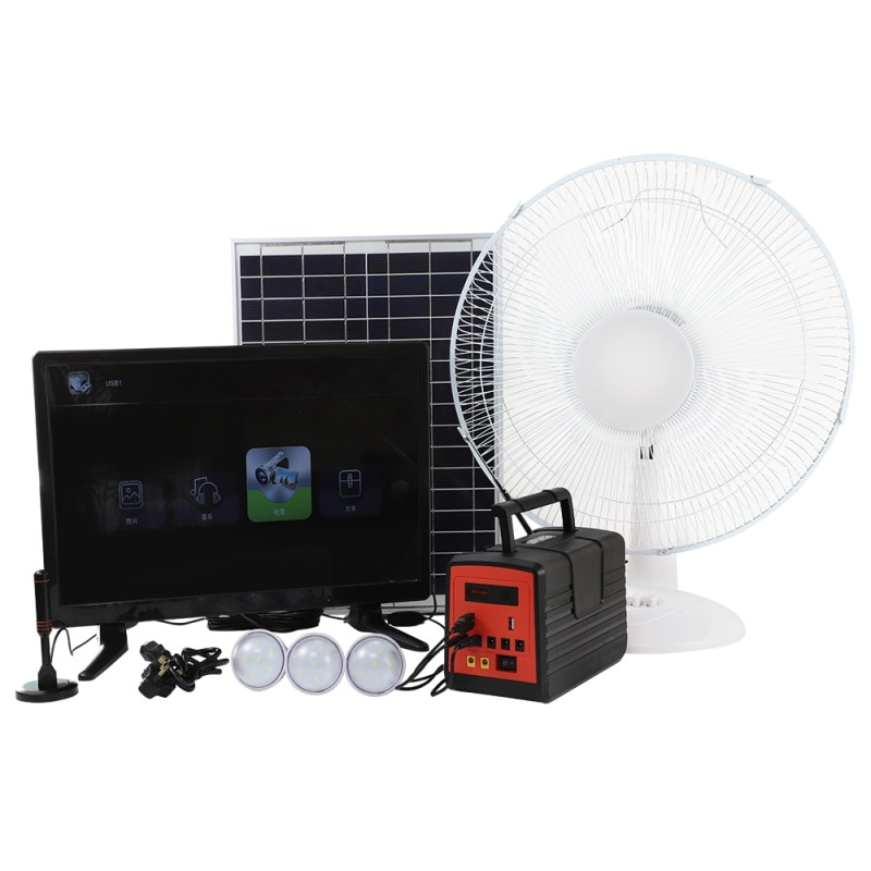 Prepaid Portable Rechargeable SHS Energy Generator Solar Powered lighting System Kit Off-grid Power Station