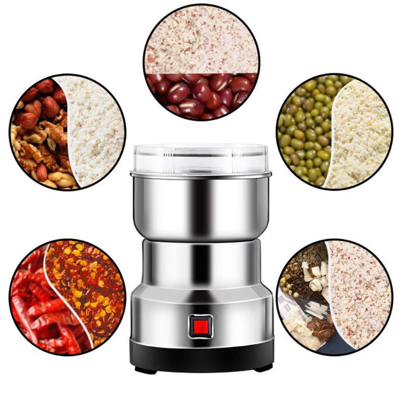 مطحنة القهوة الكهربائية ، آلة سحق البذور ، متعددة الوظائف من الفولاذ المقاوم للصدأ ، خلاط القهوة والتوابل