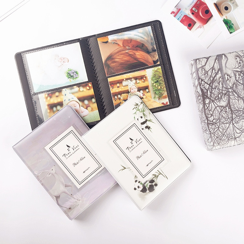 64 Pockets 3 Inch Photo Album Book For Fujifilm Instax Mini Film Paper Album Instax Mini 9 8 7s 90 70 25 Name Card Ticket Holder