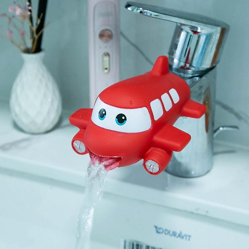 Animais dos desenhos animados torneira ferramenta extensor água crianças salvar ajuda lavar mãos banho do banheiro brinquedos de cozinha tok crianças j0646