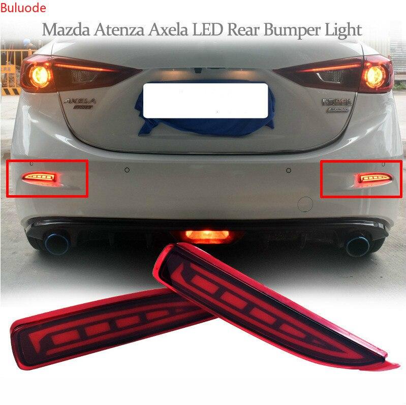 1 par de luces LED traseras luz de freno Luz de parachoques trasera Lámpara decorativa para Mazda 6 Mazda6 ATENZA 2019 2020