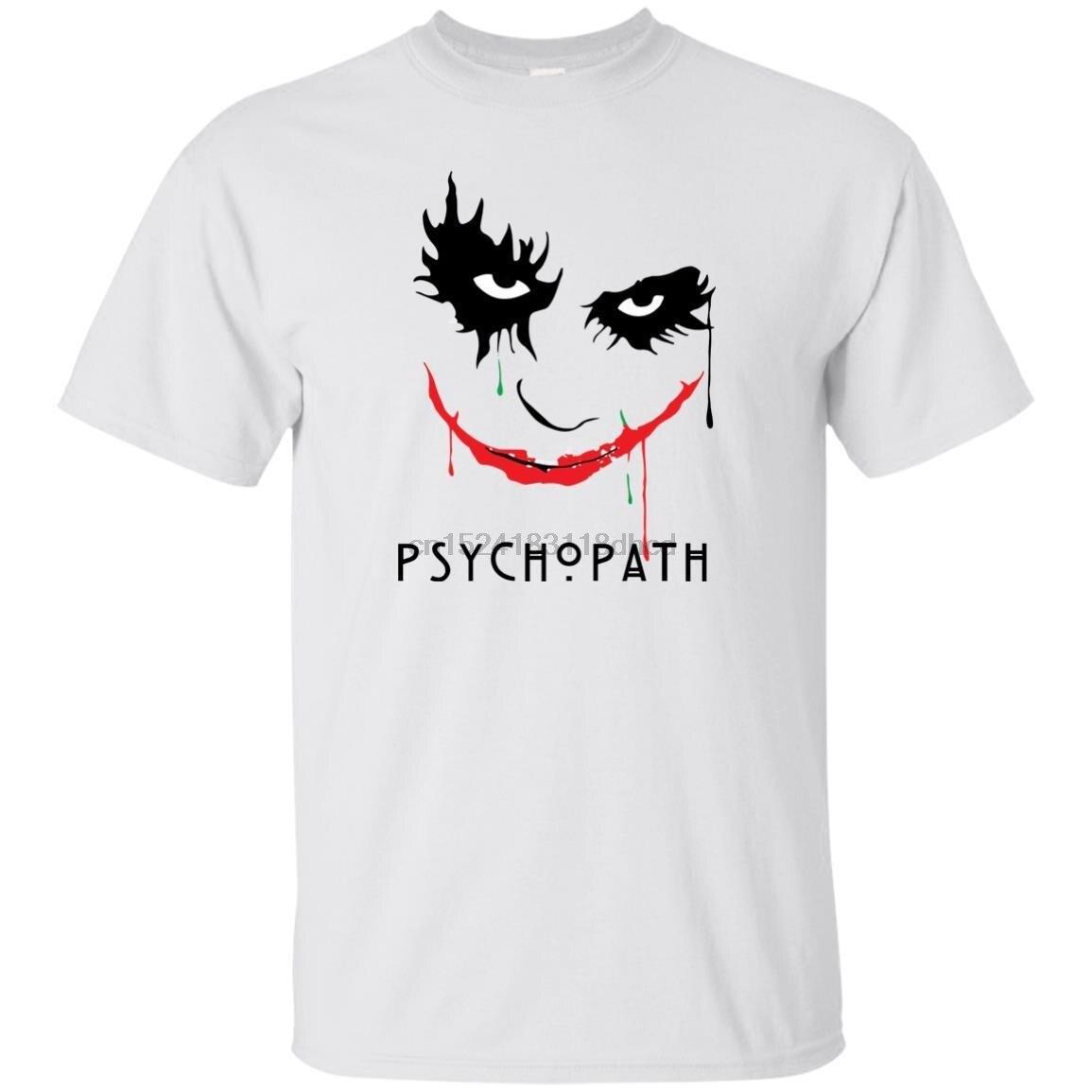 The Joker Heath Ledger The Dark Knight Psychopath BLACK Unisex T Shirt