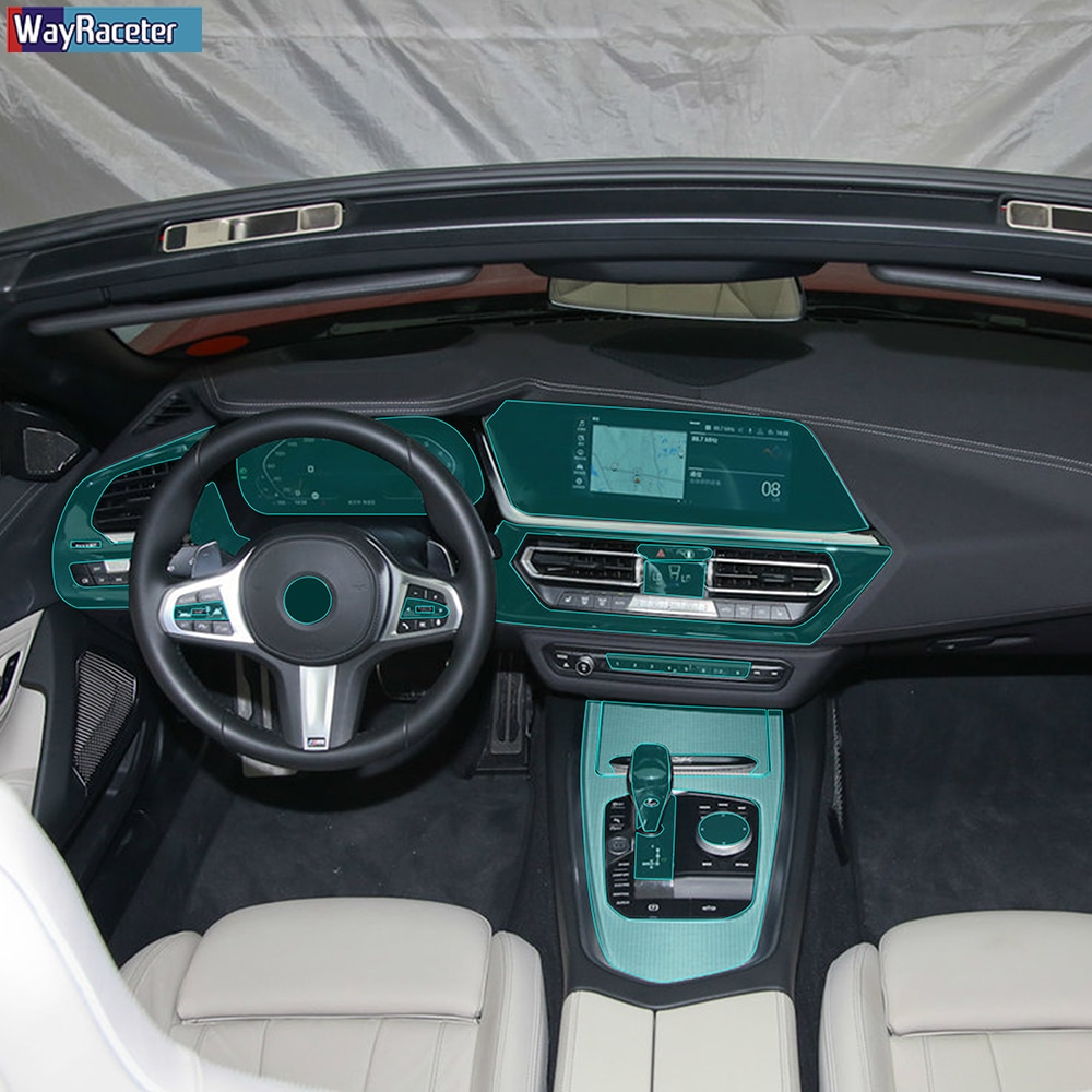 Voiture intérieure Console centrale engrenage tableau de bord auto-guérison Film protecteur Transparent pour BMW Z4 G29 2019 2020 accessoires