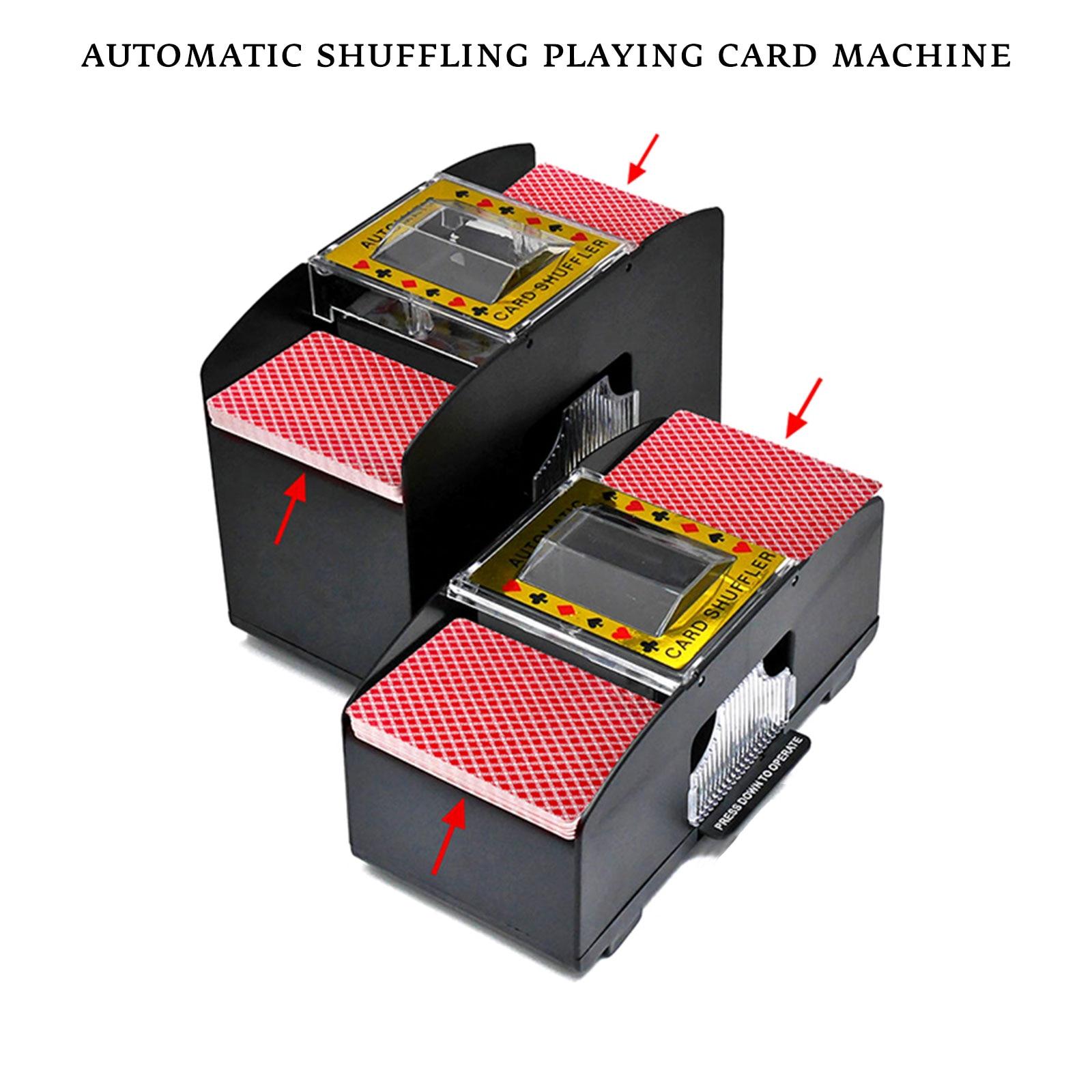 جديد التلقائي بوكر بطاقة المراوغة الإلكترونية بوكر بطاقة خلط جهاز بطارية تعمل بطاقات اللعب أداة للكازينو في المنزل