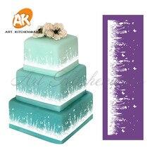 Pochoir en dentelle de maille de prairie   Bricolage, outils de décoration de gâteaux, pochoir de gâteaux en tissu pour moule à gâteaux, moules de Fondant, nouvelle collection