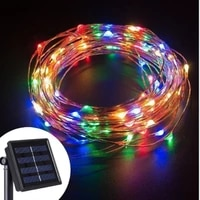 led solar string fairy lights waterproof outdoor garland solar power lamp christmas for garden decoration