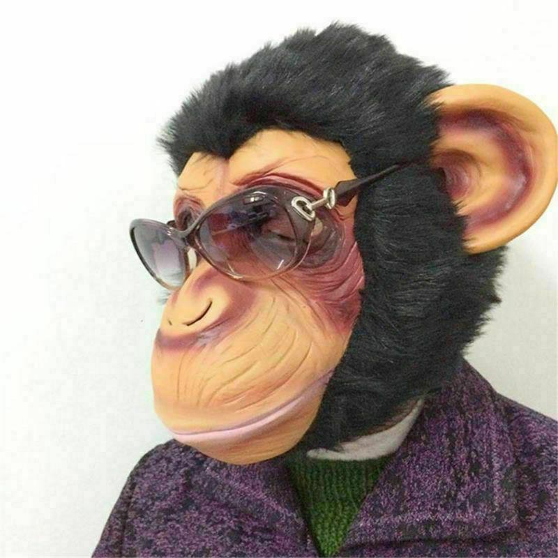 Halloween Aap Masker Funny Animal Party Kostuum Hoofd Fancy Props NSV775