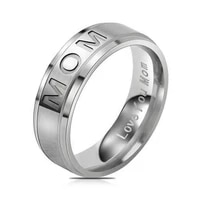love you mom titanium carving ring womens ring mothers day gift for mom rings elegance delicate jewelry