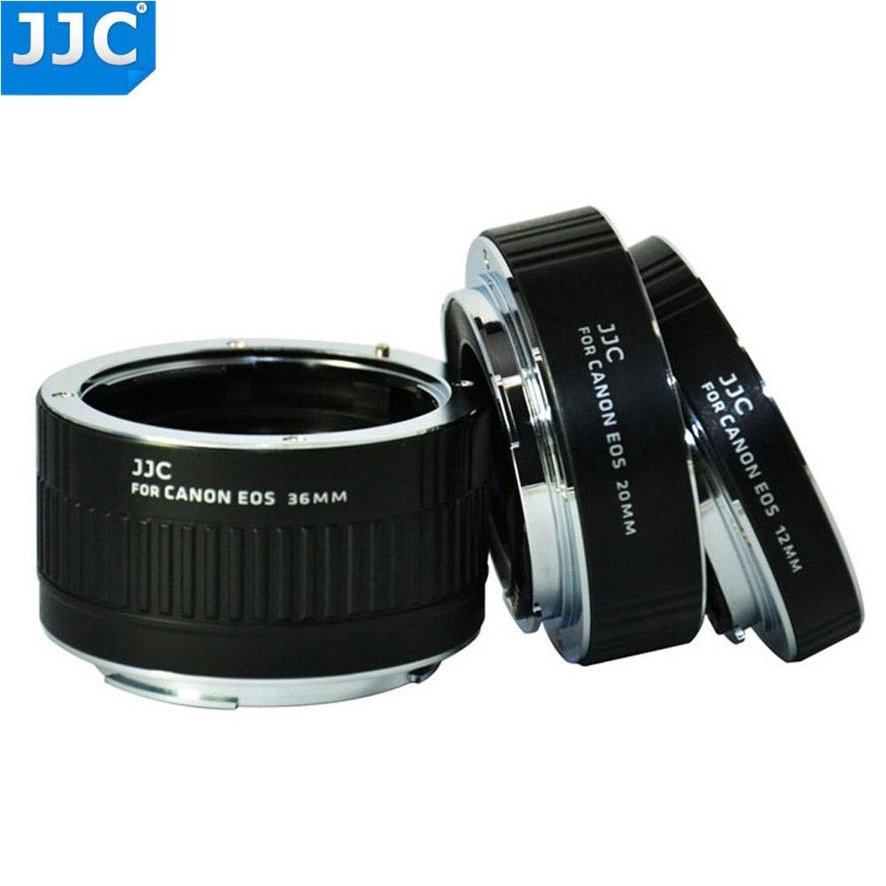 JJC 12mm 20mm 36mm Macro extensión tubo anillo adaptador para Canon EF EF-S Cámara 760D 750D 700D 650D 600D 550D 70D 7D 5D MarkIII