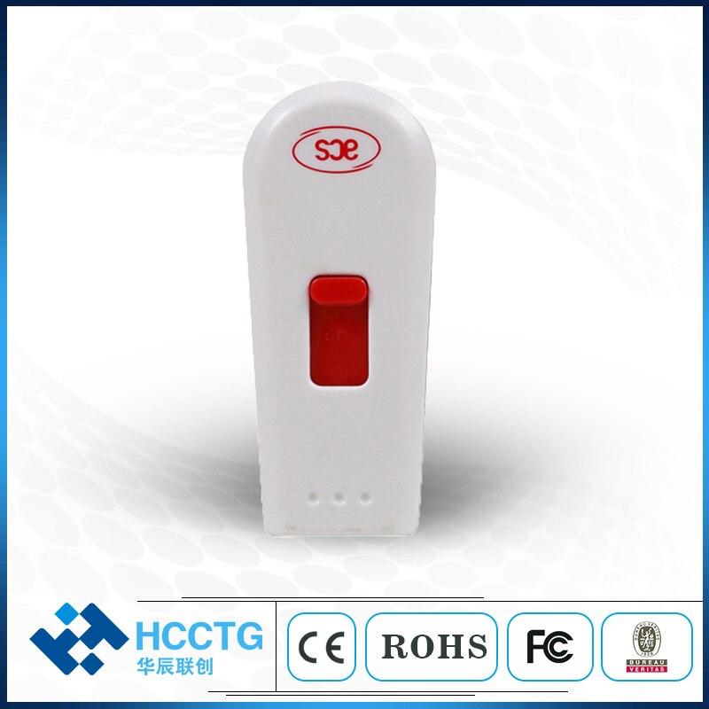 محمول 13.56 MHz USB الاتصال NFC جيب قارئ بطاقات الذكية الكاتب (ACR122T)