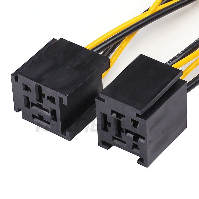 1Pcs relay socket for 40a 80a 4pin 5pin relay