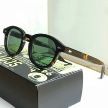 Men Johnny Depp Sunglasses Polarized Lens Luxury Brand Acetate Glasses Frame Lemtosh Sunglasses Wome