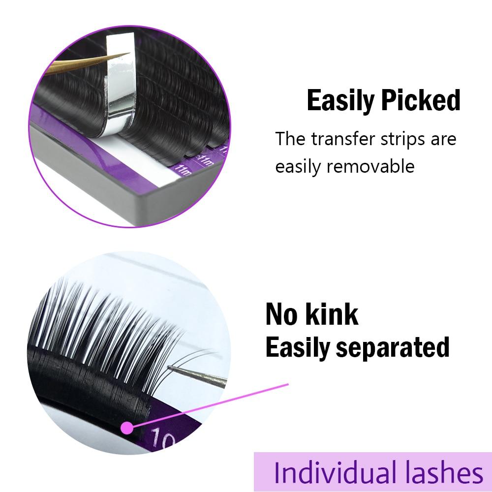 NAGARAKU 16Rows Faux lash individual eyelash extension lashes maquiagem cilios for professionals soft natural eyelash extension