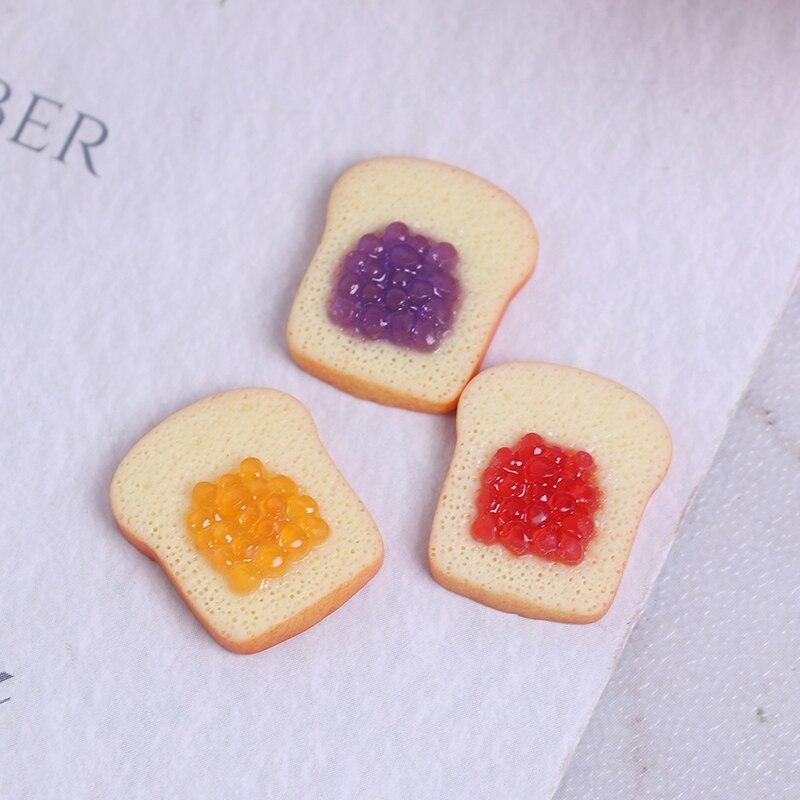 Casa de muñecas en miniatura Toast 1/6 escala Mini pan comida para...