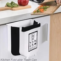 foldable portable car trash can kitchen trash can for bathroom kitchen cabinet door wall mounted kitchen storage cleaning tool