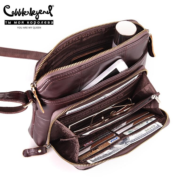 Cobbler Legend-حقيبة كتف من الجلد الطبيعي بجيوب متعددة للنساء ، حقيبة كتف ، حامل بطاقات أصلي ، غير رسمي ، مصمم ، 2019