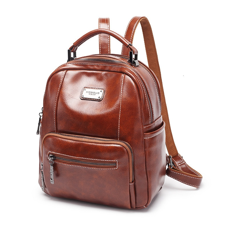 Mochila Vintage de charol para mujer, Mochila de moda de viaje para mujer, mochilas escolares para adolescentes Rugzak Sac A Dos polos