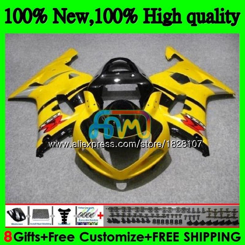 الجسم لسوزوكي GSXR 1000 GSX-R1000 GSXR1000 الأصفر الأسود 00 01 02 40BS.6 1000CC GSXR-1000 K2 GSX R1000 2000 2001 2002 هدية