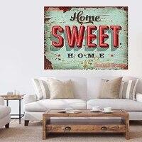 Peinture diamant theme  sweet home   broderie complete 5d  mosaique  autocollant mural  carre  pour salon  maison  vente