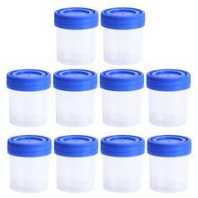10 PCS Urine Container Specimen Cup Sample Bottle 40ML Vol Molded Graduation ML And Oz PP EO Sterile