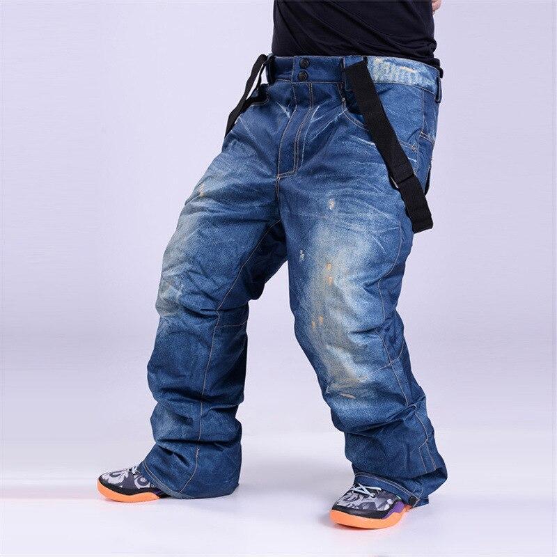 Мужские лыжные штаны высокого качества, теплые утепленные штаны для сноуборда, водонепроницаемые ветрозащитные дышащие мужские зимние лыж...