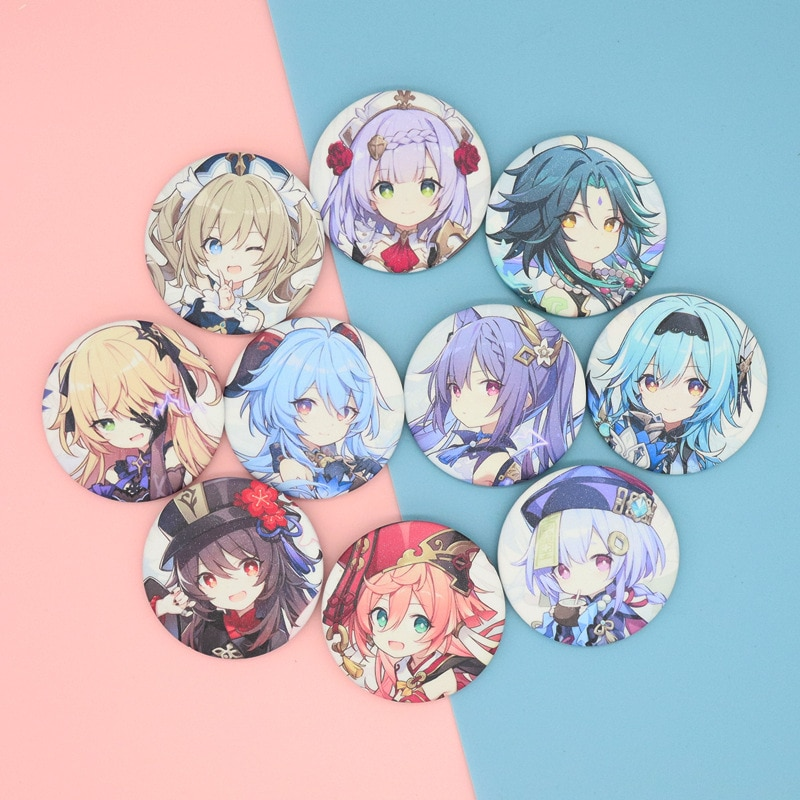 Anime Online Game Genshin Impact Cosplay Prop Pin Brooch Clothes Badges Button Brooch Pins Gift Accessories Free Shipping