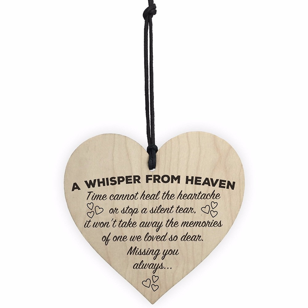 Wooden Heart-shaped Wood Crafts Novelty Special Use Christmas Home DIY Tree Decorations Wine Label S