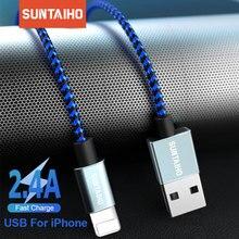 Suntaiho Usb Kabel Voor Iphone 11 Pro Xs Max Xr X 7 8 6 Plus 6 S 5 S Se ipad 2.4A Snelle Oplaadkabel Koord Mobiele Telefoon Datakabel
