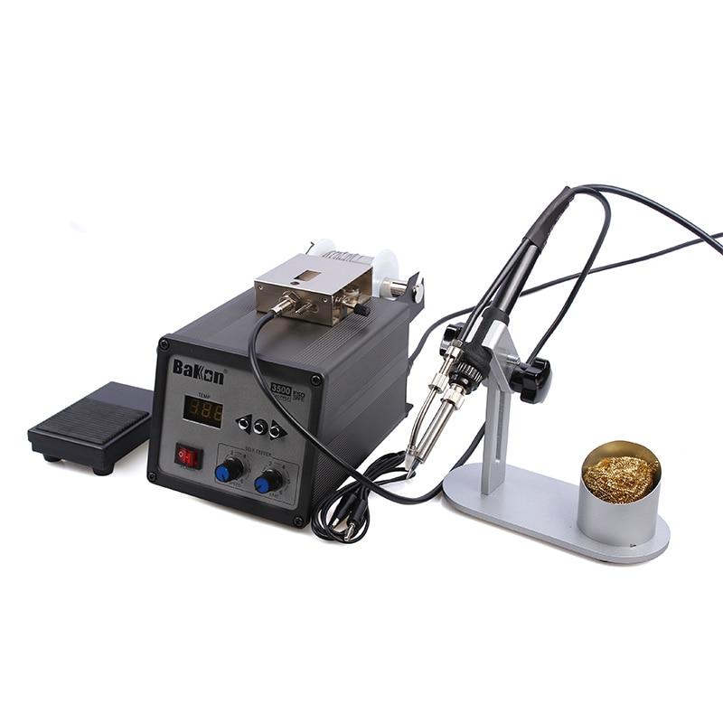 BAKON BK3500, alimentación automática, 120W, estación de soldadura sin plomo, máquina de soldadura por calentamiento de corriente de Foucault