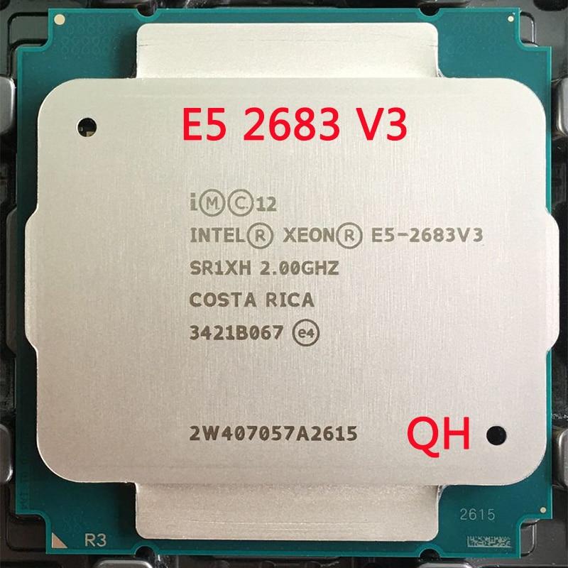 Intel-procesador Xeon E5 2683 V3 SR1XH, 2,0 GHz, 14 núcleos, 35M, LGA 2011-3, E5, 2683V3, cpu