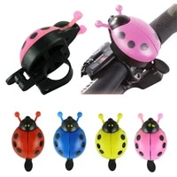 bicycle bell kids lovely cartoon beetle ladybug cycling bike handlebar alarm ring bell safety warning louldy bicycle accessories