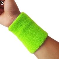 80 hot sale 1pcs wristbands sport sweatband hand band sweat wrist support brace wraps guards for gym volleyball basketball gift