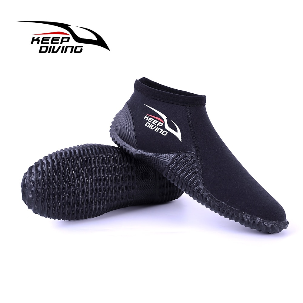 4MM neoprene low cut diving boots wading shoes water sports anti-slip diving boots beach surfing swimming low water shoes