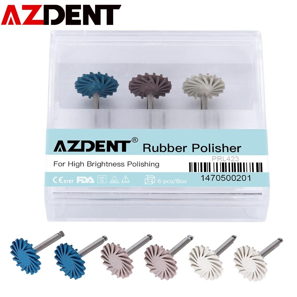 AZDENT 6pcs/Set Dental Composite Resin Wheel High Efficiency for Dentists Teeth Care Tools Teeth Whitening Diamond System Polish