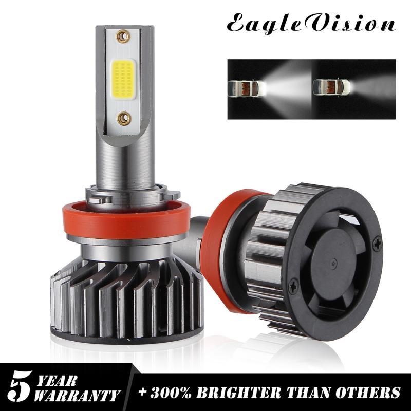 Par de faróis de led cob h1, h4, h7, h8, 9005, 9006, 110w, 26000lm, feixe alto 6000k, 1 par lâmpada branca de alta potência dropship