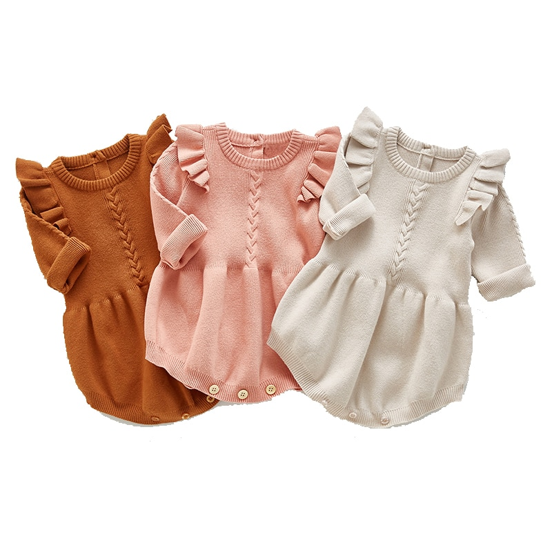 0-2 Years Old Baby Girl Romper Crawl Clothes Child Autumn Cotton Romper For Baby Girls Clothes