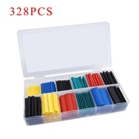 328pcs heat shrink sheath tube assorted insulation shrinkable tube 21 wire cable protector sleeve kit thermoresistant tube