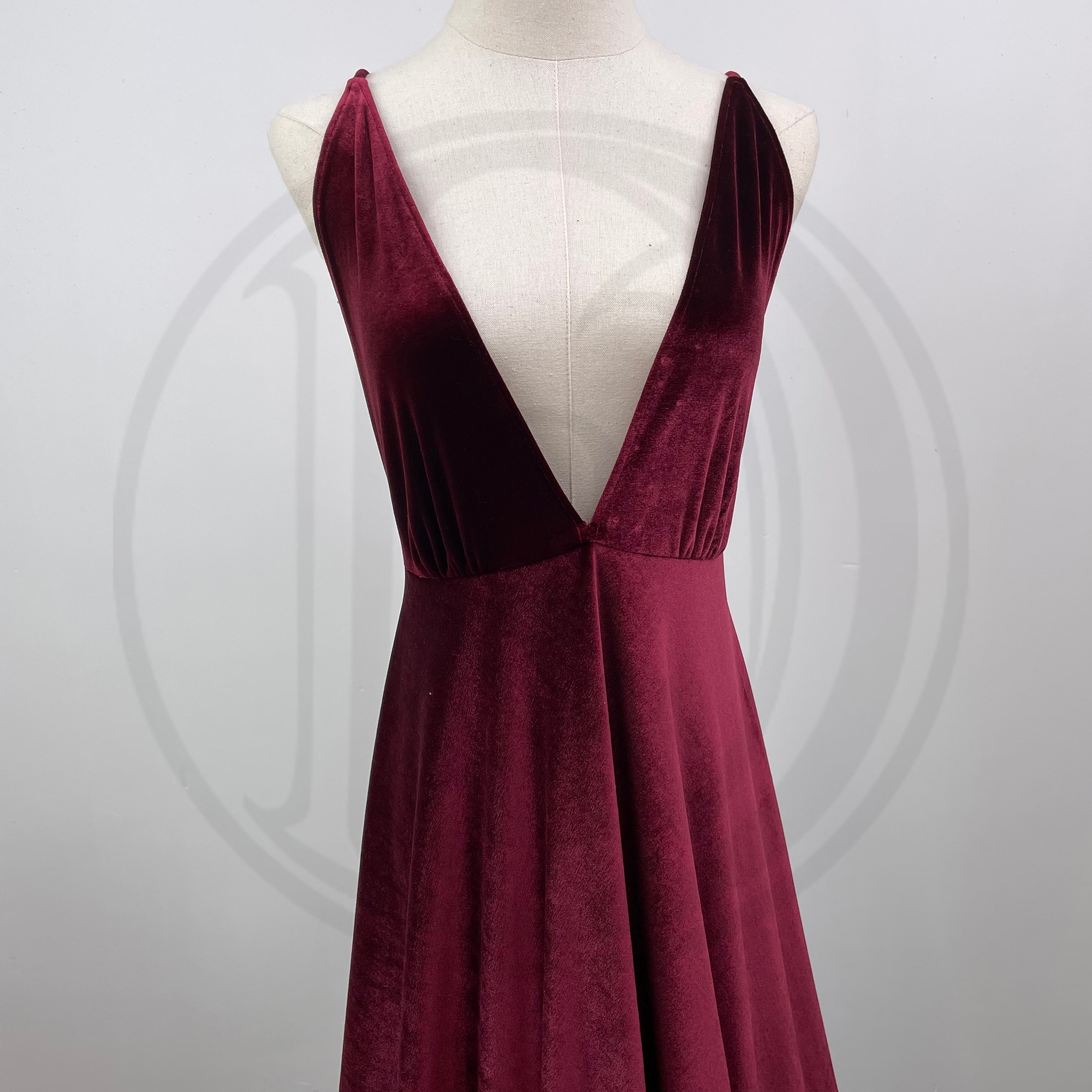 Soft Maxi Long Deep V Maternity Dress Pregnant Velvet Gown Evening Party Robe for Woman Photography Prop Baby Shower Costume enlarge