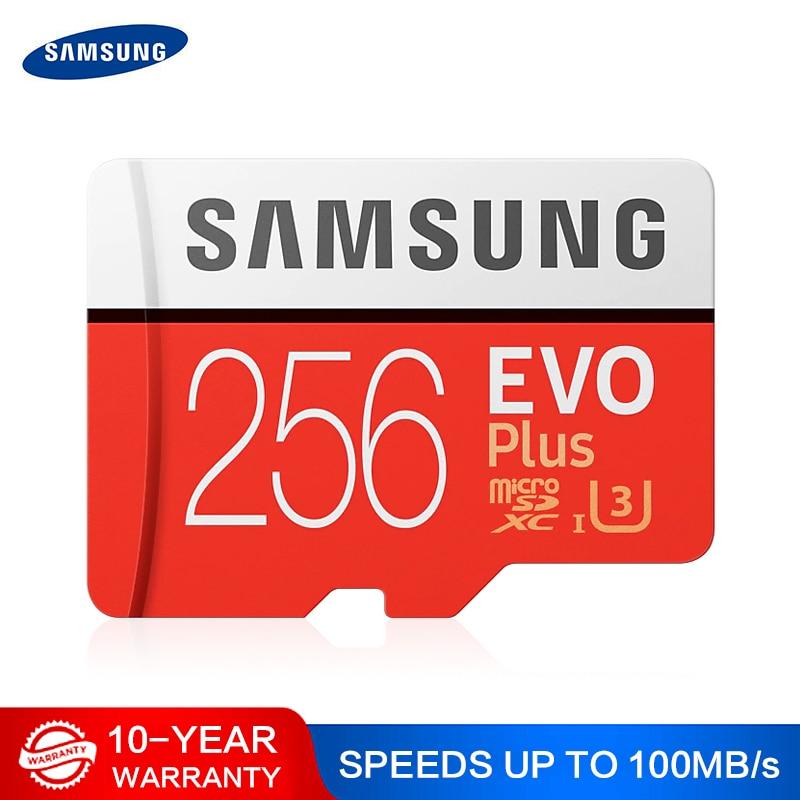 SAMSUNG Micro SD карта 32 Гб 64 Гб 128 ГБ 265 ГБ памяти Micro SD высокая скорость 100 МБ/с./с U3 4K 128 ГБ 265 ГБ SDXC Microsd карта