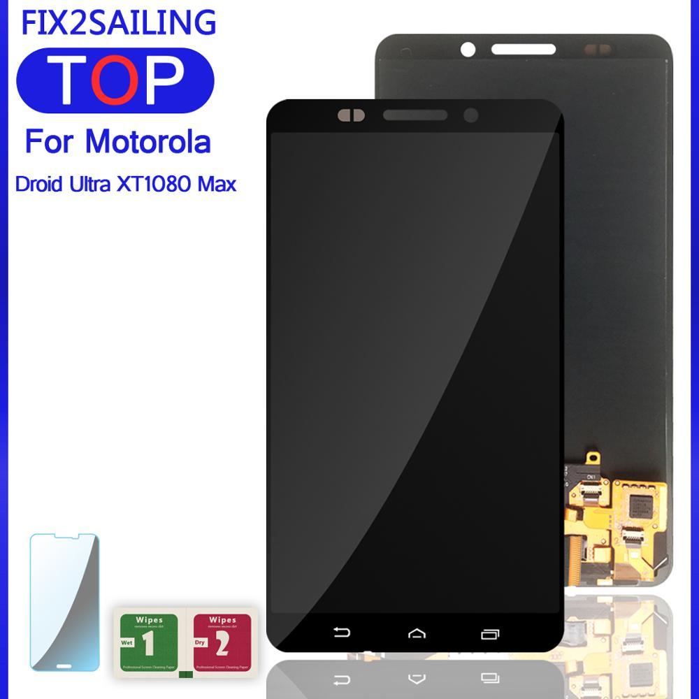 Nuevo montaje de digitalizador de pantalla táctil LCD de trabajo 100% para Motorola Moto Droid Ultra xt20maxx XT1080M