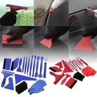 21pcs blue portable felt edge squeegee car vinyl wrap application tool scraper decal auto car cleaning car brush accessories csv
