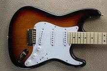 Factory store vintage SUNSET Sunburst gold golden Hardware ST signature maple fretboard  Electric Guitar Guitarra