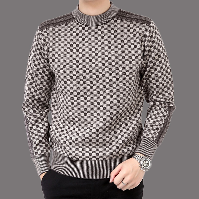 Otoño casual para hombres suéter de lana 2019 empalme slim Fit knittwear hombres suéteres hombres chaqueta de Cachemira