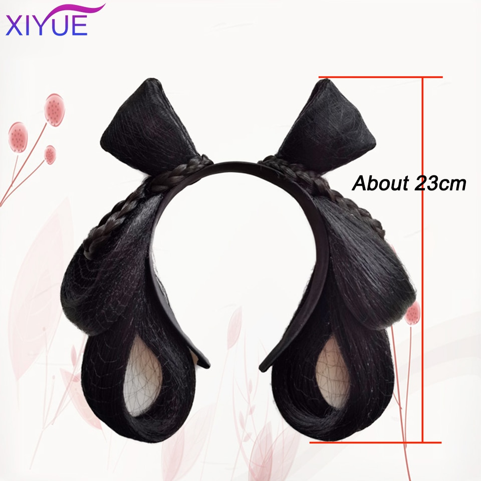 Peluca diadema sintética Antigua China Hanfu para mujer de XIYUE, peluca diadema para novia, hebillas para cabello chino antiguo