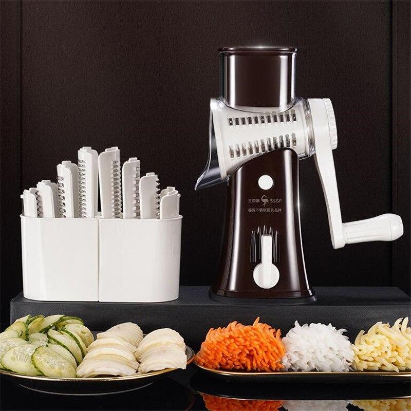 Многофункциональная ручная овощерезка, измельчители, мандарин, спиральная слайсер, машина для картофеля, сыра, кухонные гаджеты