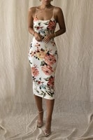 women floral print midi dress sexy sleeveless backless low cut bodycon for summer dresses for women y2k harajuku