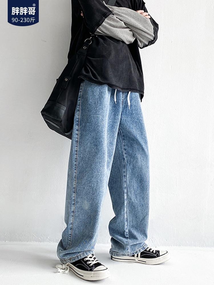 Джинсы мужские модные брендовые универсальные повседневные брюки большого размера корейские прямые брюки уличная одежда дешевая одежда К...